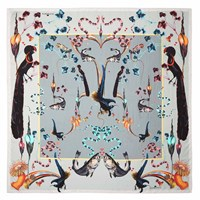 Klements Rainbow Trout Square Scarf Blue
