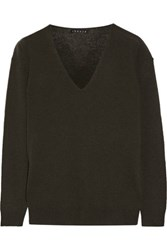 Theory Adrianna Cashmere Sweater Forest Green