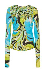 Emilio Pucci Long Sleeve Swimsuit Print