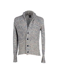 Gray Knitwear Cardigans Men Dark Blue