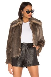 Mcguire The French 75 Faux Fur Jacket Brown