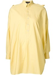 Undercover Cut Out Shoulder Shirt Yellow And Orange