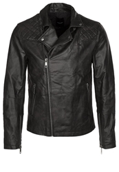 New Look Leather Jacket Black
