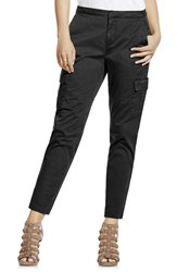 Women's Two By Vince Camuto Cotton Chino Crop Cargo Pants Rich Black