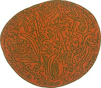 Nani Marquina Bichos Y Flores Rug Orange Orange Green Red
