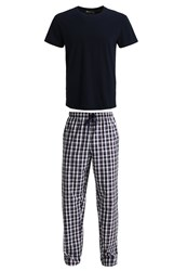 Zalando Essentials Set Pyjamas Navy Red Dark Blue