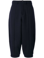 Societe Anonyme Fluffy Trousers Women Wool 42 Blue