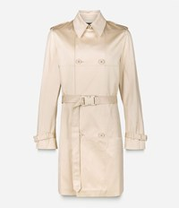 Christopher Kane Safety Buckle Trench Coat Nude And Neutrals