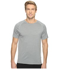 Smartwool Merino 150 Baselayer Pattern Short Sleeve Light Gray Men's T Shirt