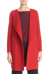 Armani Collezioni Women's Double Face Wool And Cashmere Coat