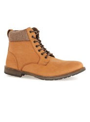 Topman Brown Tan Nubuck Cuff Boots