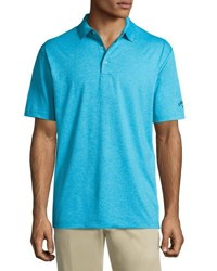 Callaway Heather Relaxed Polo Shirt Blue