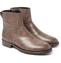 Belstaff Attwell Leather Boots Brown