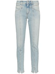 Givenchy Visible Seam Straight Leg Jeans Blue