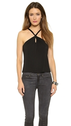 Lanston Halter Tank Top Black