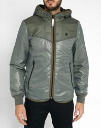 G Star Khaki Setscale Hooded Quilted Jacket