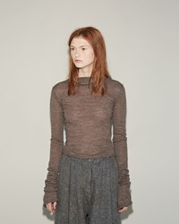 Acne Studios Jiao Alpaca Turtleneck Pullover Camel Brown