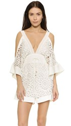 Alice Mccall Keep Me There Romper White