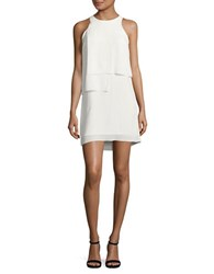 French Connection Solid Ruffle Dress Summer White