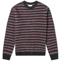 Norse Projects Sigfred Brushed Stripe Crew Knit Black