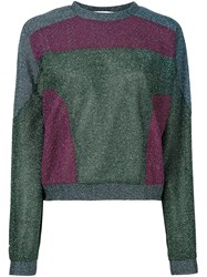 Carven Lurex Sweatshirt Pink And Purple