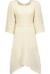 Isabel Marant Gabriel Asymmetric Cotton Cloque Dress Cream