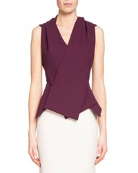 Roland Mouret Zillow Sleeveless Pleated Top Pink