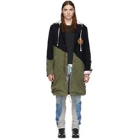 Greg Lauren Navy 50 50 Prep Army Fishtail Parka