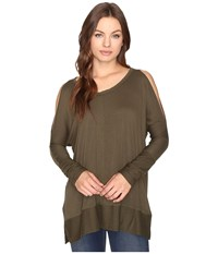 Culture Phit Andreea Top With Side Slits Olive Women's Clothing