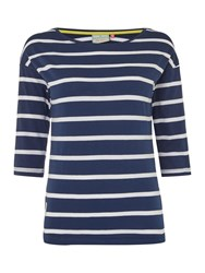 Brakeburn Nautical Striped T Shirt Navy