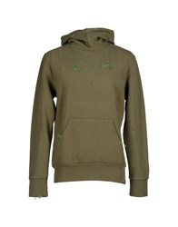 Malph Topwear Sweatshirts Men Military Green
