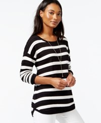 Maison Jules Striped Pullover Sweater Only At Macy's Black Combo