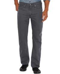 Levi's 514 Straight Fit Charcoal Padox Canvas Twill Pants