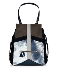Jerome Dreyfuss Anatole Tie Dye Suede And Leather Tote