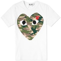 Comme Des Garcons Play 'S Heart Tee White