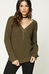 Forever 21 Ribbed V Neck Tunic