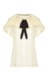 Philosophy Di Lorenzo Serafini Ruffle Tiered Lace Blouse White