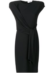 Chalayan Tie Waist Midi Dress Black