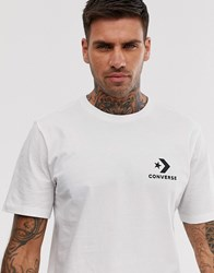 Converse Small Logo T Shirt In White
