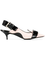 N 21 No21 Buckle Detail Kitten Heels Pink