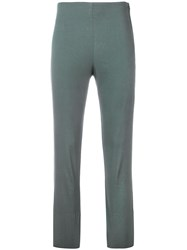 Hache Cropped Skinny Trousers Grey