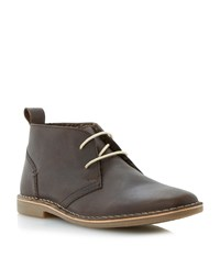 Howick Hampstead Faux Fur Lined Desert Boots Brown