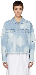 Sjyp Blue Washed Denim Jacket