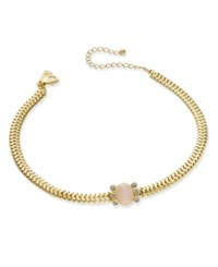 Inc International Concepts Gold Tone Pave And Pink Stone Choker Necklace Only At Macy's