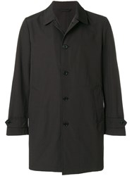 Aspesi Single Breasted Coat Black