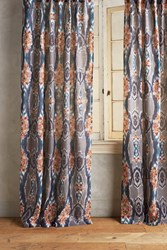 Anthropologie Stretched Ikat Curtain Multi