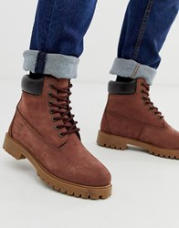 Red Tape Oxblood Buckland Boot Red