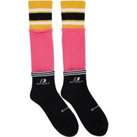 Doublet Black And Pink 3 Layered Sport Socks