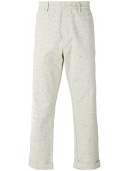 Universal Works Speckled Tapered Trousers Nude Neutrals