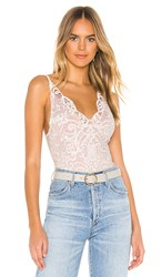 Thistle And Spire Marion Crochet Lace Bodysuit In White. Ivory